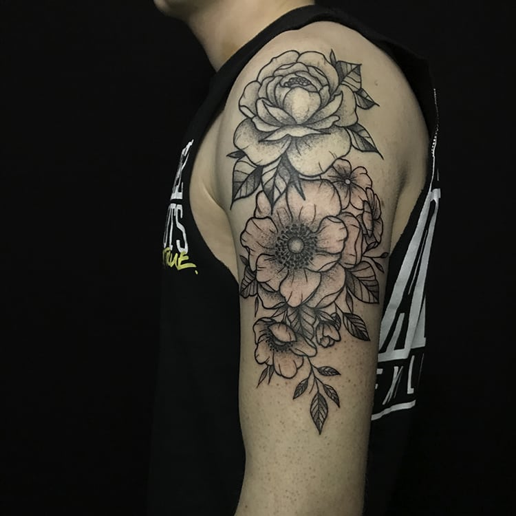 Voorbeeld bloemen tattoo door Danique