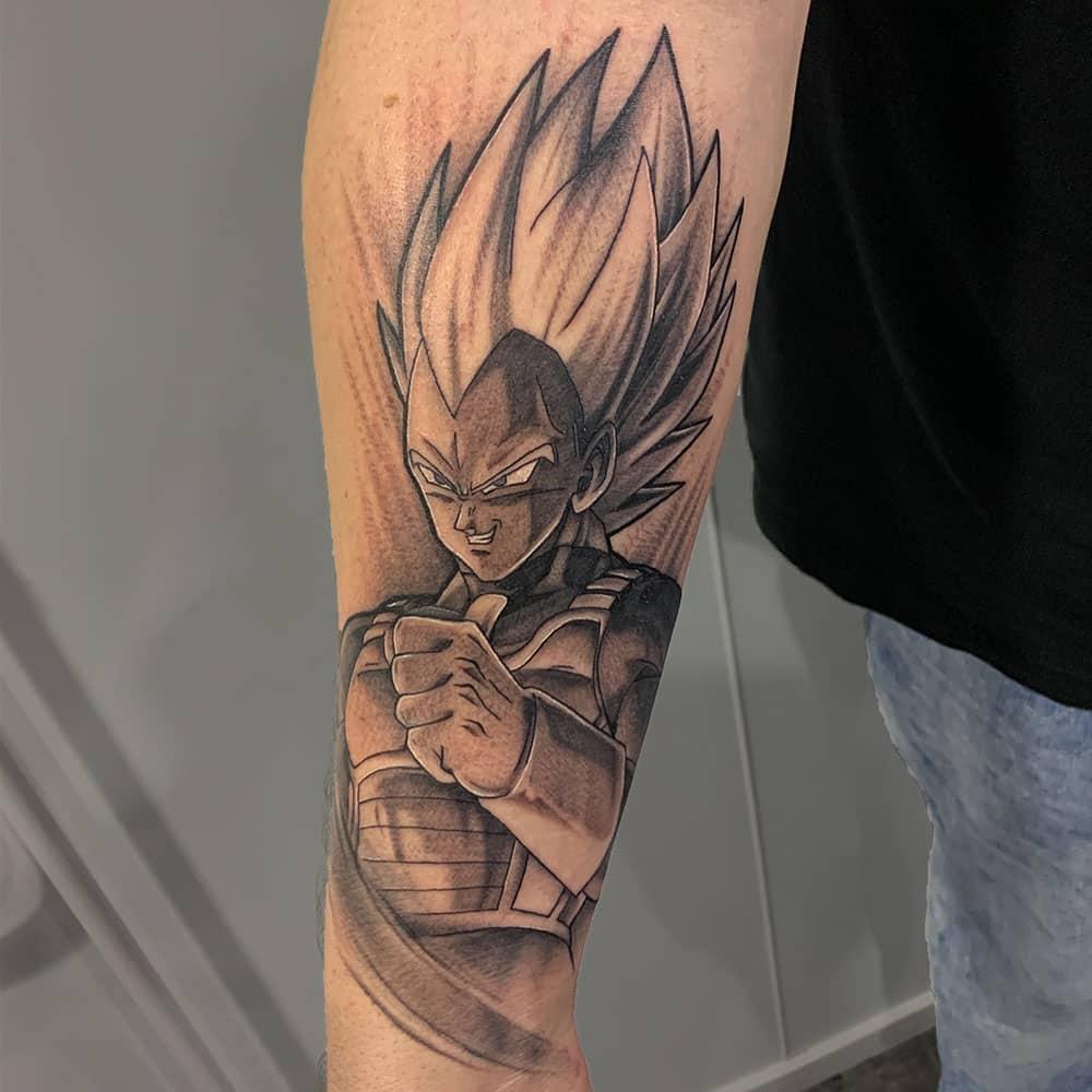 Anime Vegeta Dragon Ball Z tattoo
