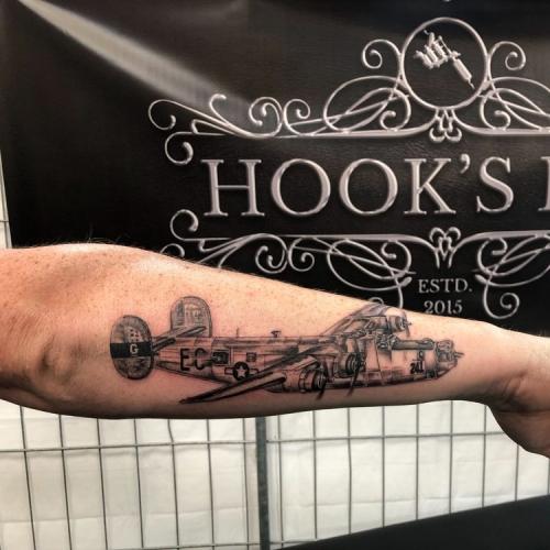 B24 bommenwerper tattoo