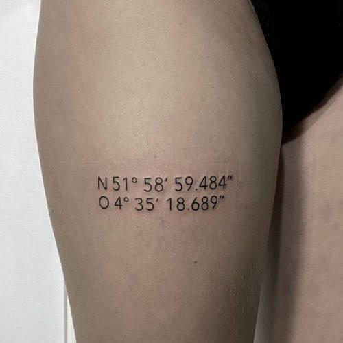 Coördinaten tattoo
