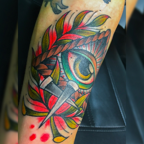 Kleur sleeve Japanse stijl oog