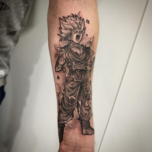 Gohan Dragon Ball Z tattoo sleeve