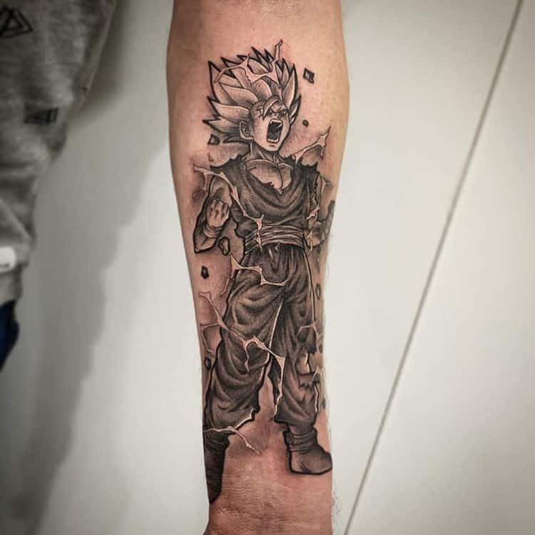 Gohan Dragon Ball Z tattoo sleeve