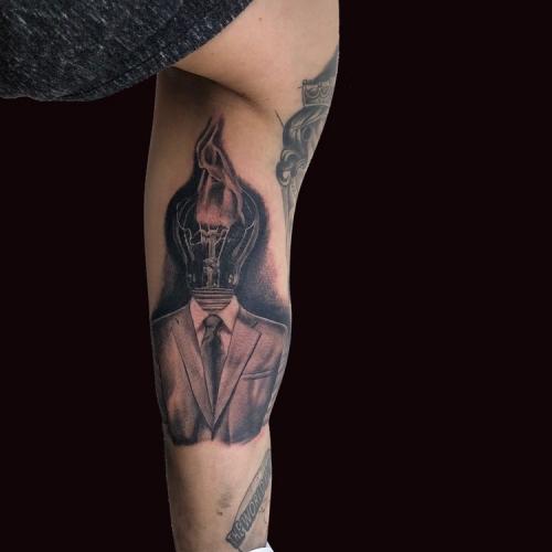 Lamp in pak custom made tattoo design