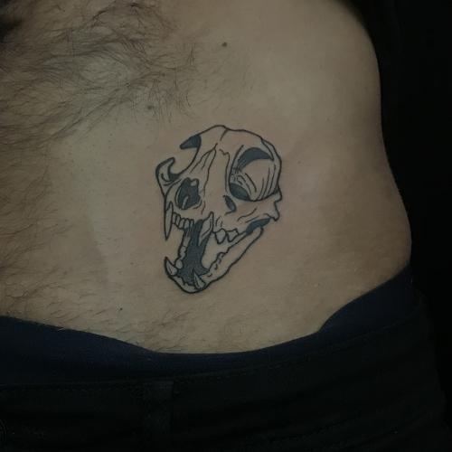 Kattenschedel tattoo