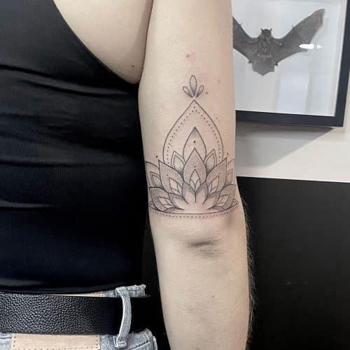 Ornamental lotus tattoo Danique