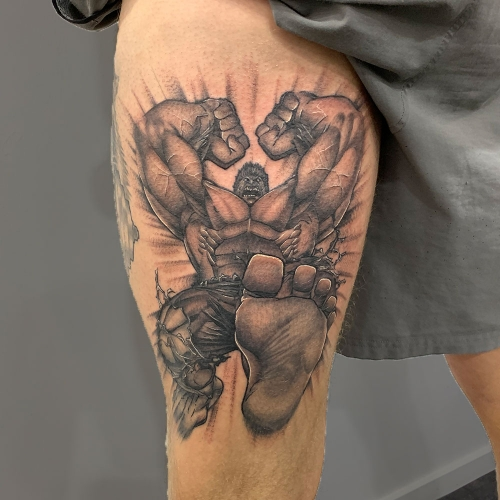 Hulk smash tattoo