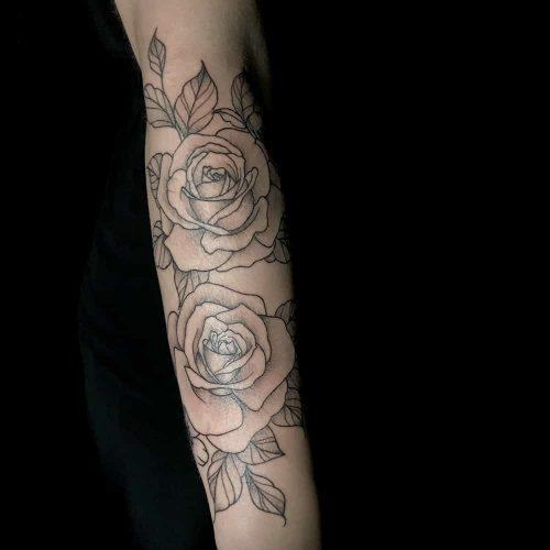 Lijnwerk rozen sleeve