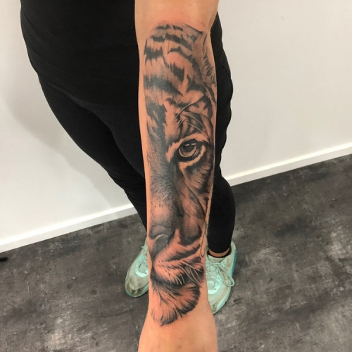 Black & grey tijger sleeve