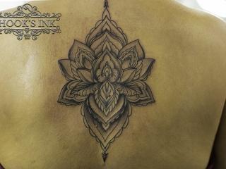 Mandala backpiece tattoo