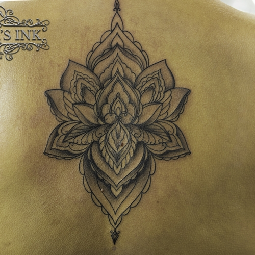 Mandala backpiece tattoo