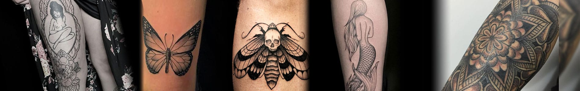 Blackwork tattoo banner