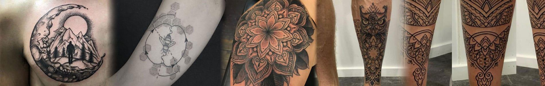 Geometrische tattoo banner