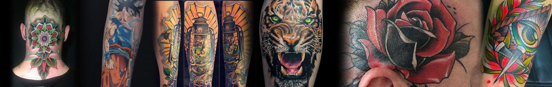 Kleuren tattoo banner
