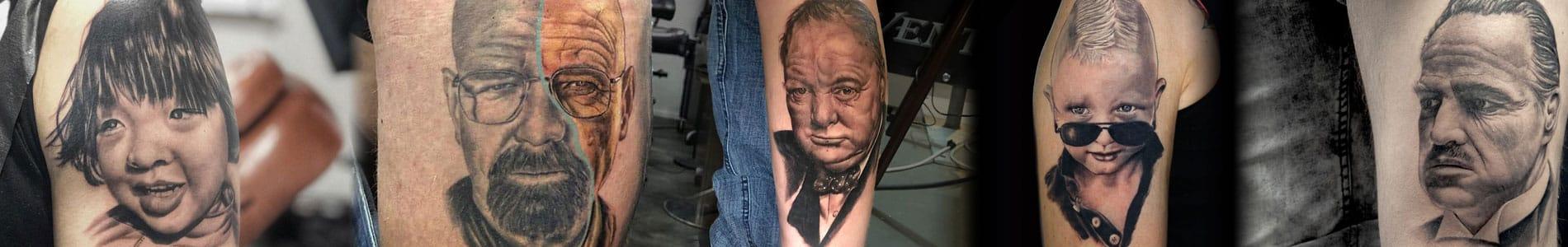 Portret tattoo banner