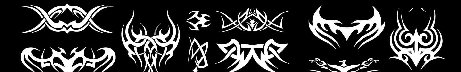 Tribal tattoo banner