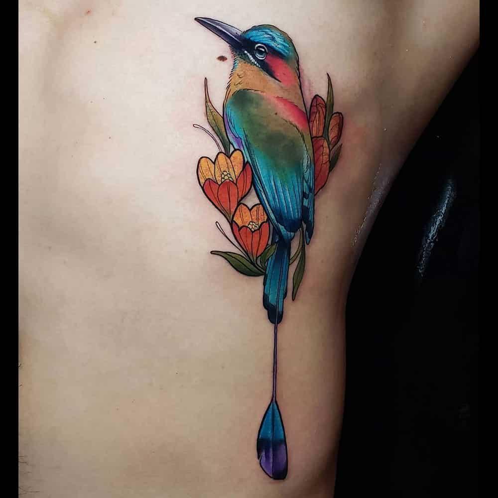 Legende van Toh vogel kleuren tattoo Molly