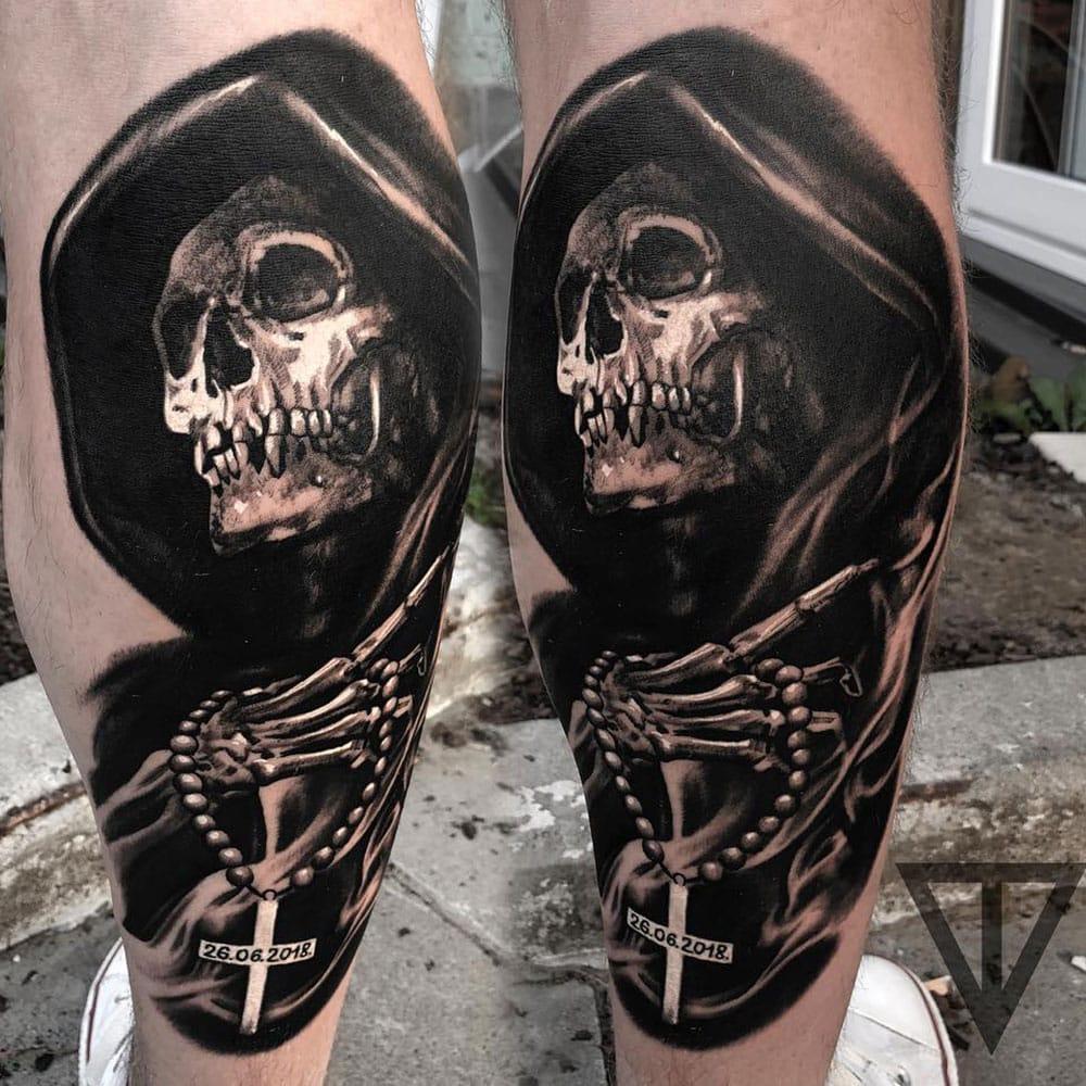 The Reaper tattoo Roman Vainer