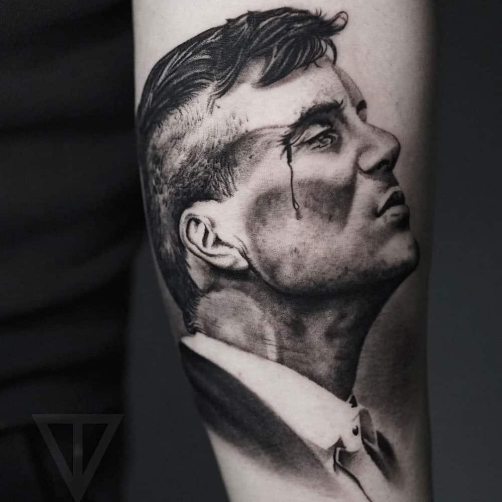 Thomas Shelby Peaky Blinders tattoo Roman Vainer
